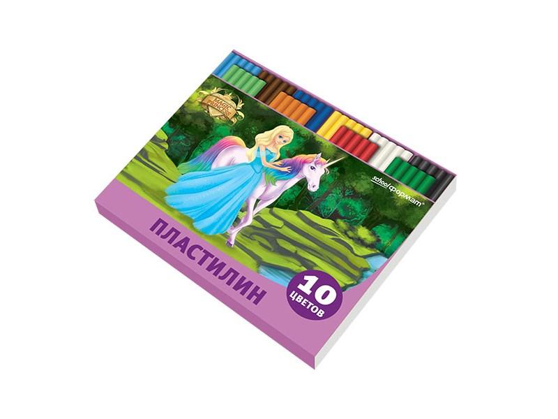 Пластилин Принцессы-волшебницы 10 цв. 200 г со стеком