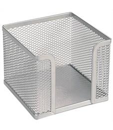 "Подставка для бумажного блока Erich Krause ""Steel"", 9,5*9,5*8, сетчатый металл, серый"