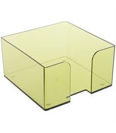 Подставка для бумажного блока Стамм, 9*9*5, тонированный, цвет лайм