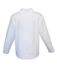 Фото 2. Поло для мальчика Снег белое длинный рукав  914-БИ
