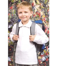 Фото 4. Поло для мальчика Снег белое длинный рукав  914-БИ