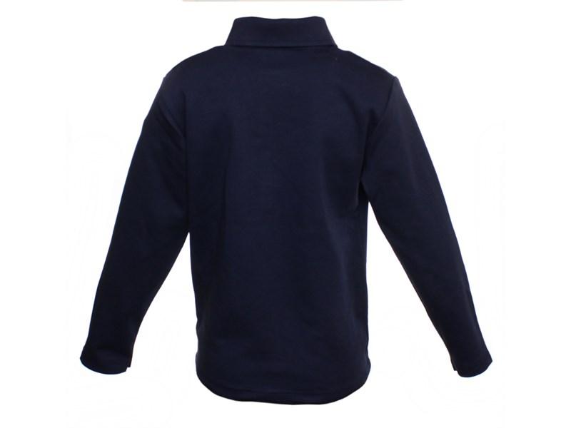 Поло Снег синее длинный рукав  914-БИ