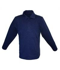 Поло синий с длинным рукавом 329-БДР-01