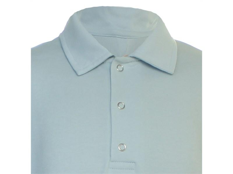 Поло Снег серо-голубое длинный рукав  914-БИ