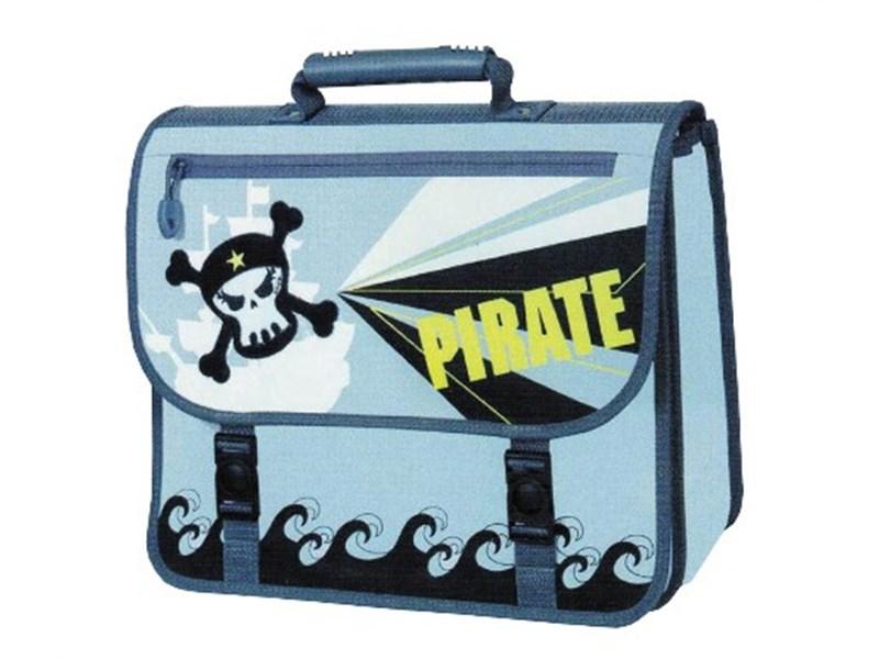Портфель-ранец TIGER MAX, внешний размер 33.5х37х16.5 см, дизайн пират