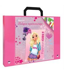 Портфель пластиковый А4, розовый