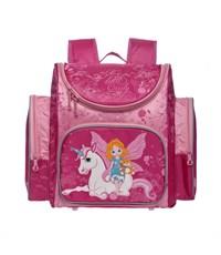 RA-332-9 Рюкзак школьный с мешком для обуви фуксия-розовый)