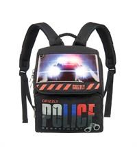 RA-454-1 Рюкзак школьный Grizzly с мешком для обуви черный