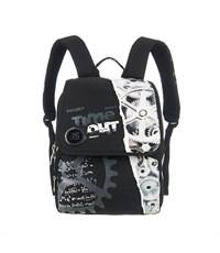 RA-454-2 Рюкзак школьный Grizzly с мешком для обуви черный-серый