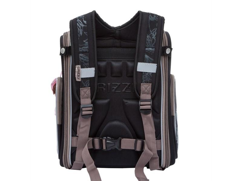 RA-771-3 Ранец школьный Grizzly черный