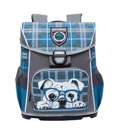 RA-775-3 Рюкзак школьный Grizzly серый-бирюза
