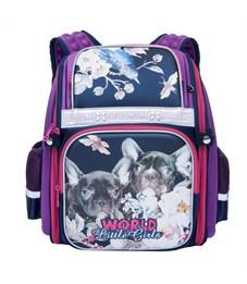 RA-776-4 Рюкзак школьный Grizzly (/2 фиолетовый)