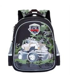 RA-778-4 Рюкзак школьный Grizzly черный