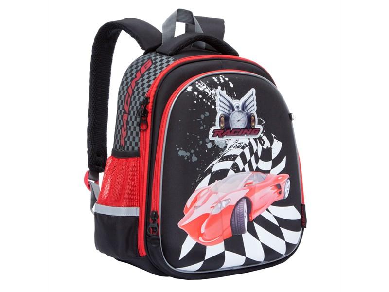 RA-778-8 Рюкзак школьный Grizzly черный