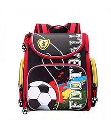 RA-870-11 Рюкзак школьный с мешком Grizzly (/1 черный - красный)