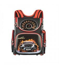 Рюкзак школьный Grizzly RA-870-14 с мешком (/1 черный - красный)