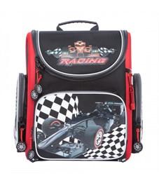 Рюкзак школьный Grizzly RA-870-2 с мешком (/2 черный - красный)