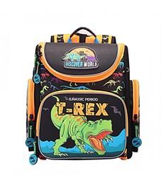 Рюкзак школьный Grizzly RA-870-6 с мешком (/1 черный - оранжевый)