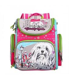 RA-871-1 Рюкзак школьный с мешком Grizzly  (/1 фуксия)