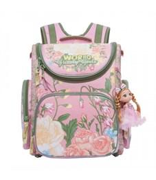 RA-871-4 Рюкзак школьный с мешком Grizzly (/1 розовый)