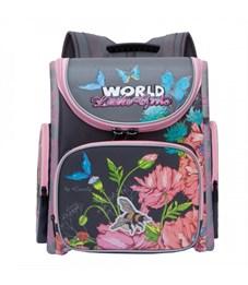 RA-871-7 Рюкзак школьный с мешком (/1 серый)