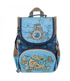 RA-872-1 Рюкзак школьный с мешком (/1 синий - голубой)
