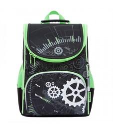 Рюкзак школьный Grizzly RA-872-2 с мешком (/1 черный)
