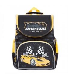 Рюкзак школьный Grizzly RA-872-3 с мешком (/1 черный - желтый)