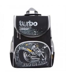 Рюкзак школьный с мешком Grizzly RA-872-5 (/2 черный - серый)
