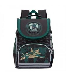 Рюкзак школьный Grizzly RA-872-6 с мешком (/1 черный)