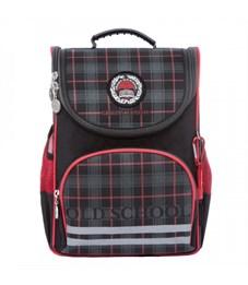 Рюкзак школьный Grizzly RA-872-7 с мешком (/2 черный - красный)