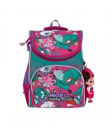 Рюкзак школьный Grizzly RA-873-3 с мешком (/1 фуксия - мята)