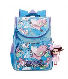 Рюкзак школьный Grizzly RA-873-3 с мешком (/3 голубой)