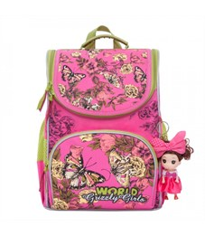 Рюкзак школьный Grizzly RA-873-4 с мешком (/2 фуксия)