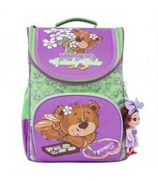 Рюкзак школьный Grizzly RA-873-5 с мешком (/1 лиловый - салатовый)