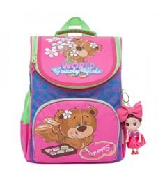 Рюкзак школьный Grizzly RA-873-5 с мешком (/2 жимолость - синий)