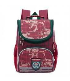 Рюкзак школьный Grizzly RA-873-7 с мешком (/1 красный)