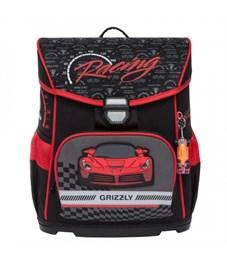 Ранец школьный Grizzly RA-874-1 с мешком  (/2 черный - красный)