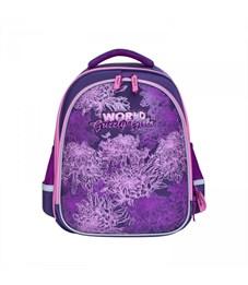 RA-879-4 Рюкзак школьный Grizzly (/1 фиолетовый)