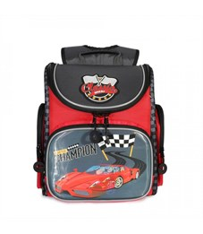 RA-970-4 Рюкзак школьный (/2 красный - т. серый)