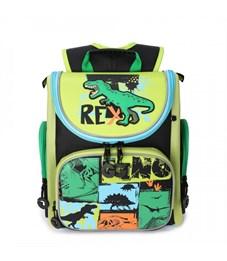 RA-970-5 Рюкзак школьный (/1 черный - зеленый)