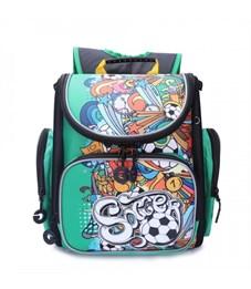 RA-970-6 Рюкзак школьный (/2 зеленый - черный)