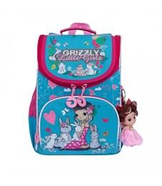 RA-973-1 Рюкзак школьный с мешком (/2 голубой - жимолость)