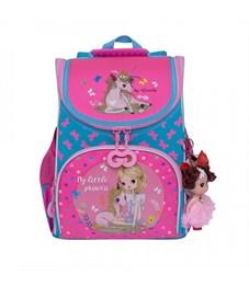 RA-973-2 Рюкзак школьный с мешком (/1 голубой - жимолость)