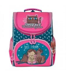 RA-973-4 Рюкзак школьный с мешком (/1 изумрудный - жимолость)