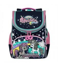 RA-973-5 Рюкзак школьный с мешком (/2 темно-синий)