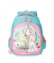 RA-979-4 Рюкзак школьный (/2 голубой - розовый)