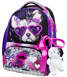 Ранец школьный DeLune 10-001 + мешок + пенал + мишка
