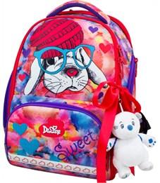Ранец школьный DeLune 10-002 + мешок + пенал + мишка