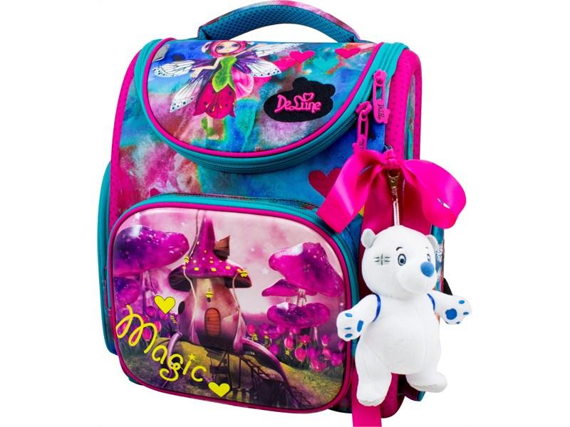 Ранец школьный DeLune Фея 3-173 + мешок + мишка + ленточка